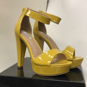 Ivy-01 Yellow Patent High Heels